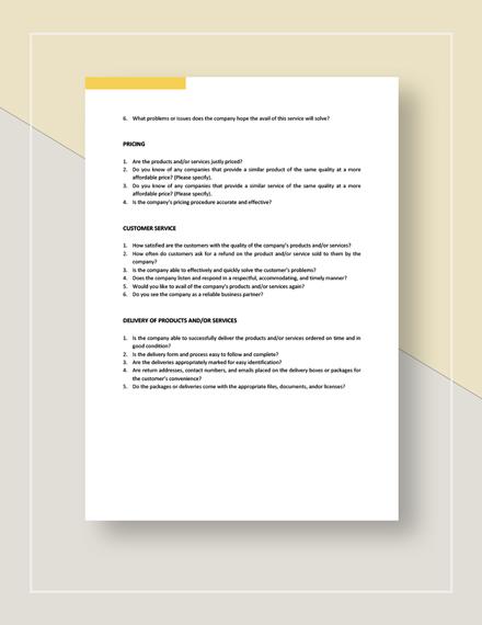 BusinesstoBusiness Market Survey Download