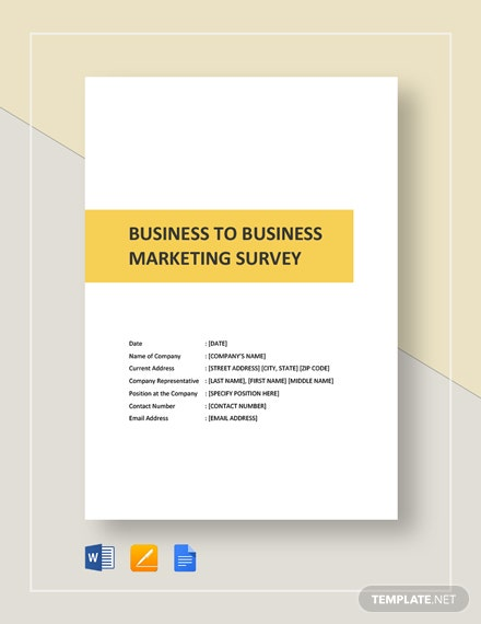 Business-to-Business Market Survey Template