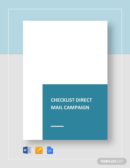 Checklist Direct Mail Campaign Template