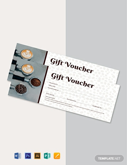 Free Cafe Gift Voucher Template