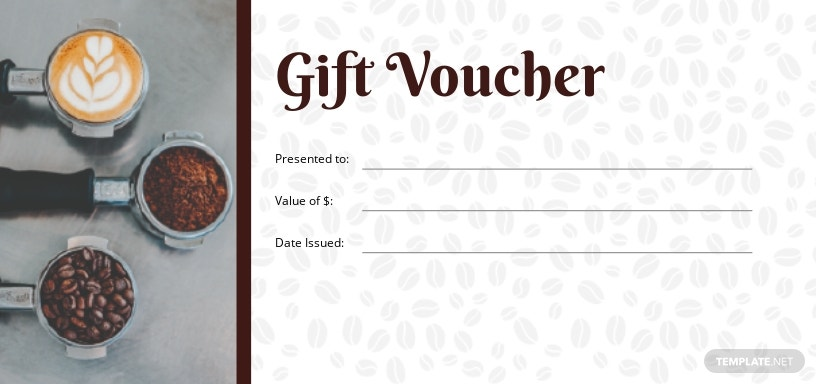 Cafe Gift Voucher Template