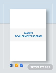 Market Development Program Template