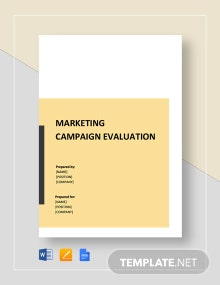 Marketing Campaign Evaluation Template