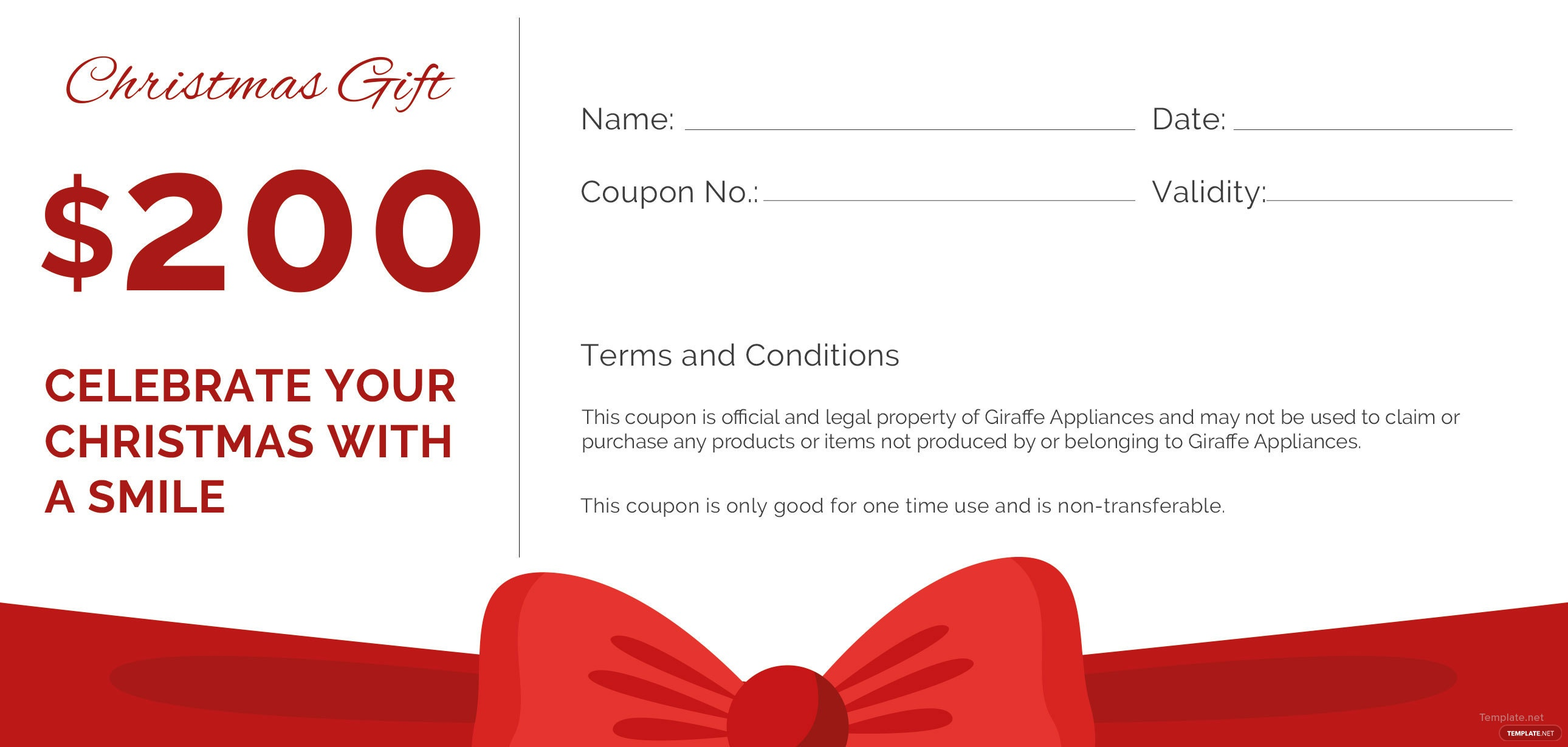 Free Christmas Gift Voucher Template Akbaeenw