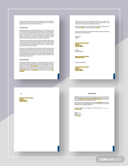 Employment Agreement Key Employee Download
