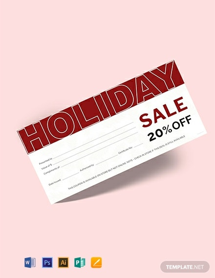 Free Holiday Gift Voucher Template