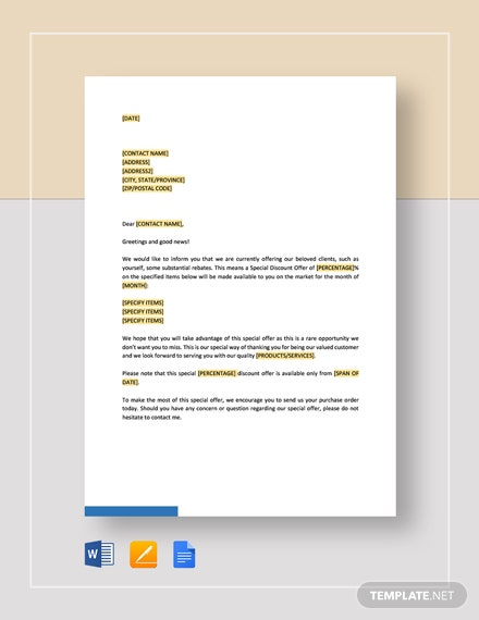 Announcement-of-New-Discount-Offer Offer Letter Template Exempt on simple employee, executive employment, executive job, employee job, for temp position, business purchase, decline job, employer job, counter proposal, temporary position,