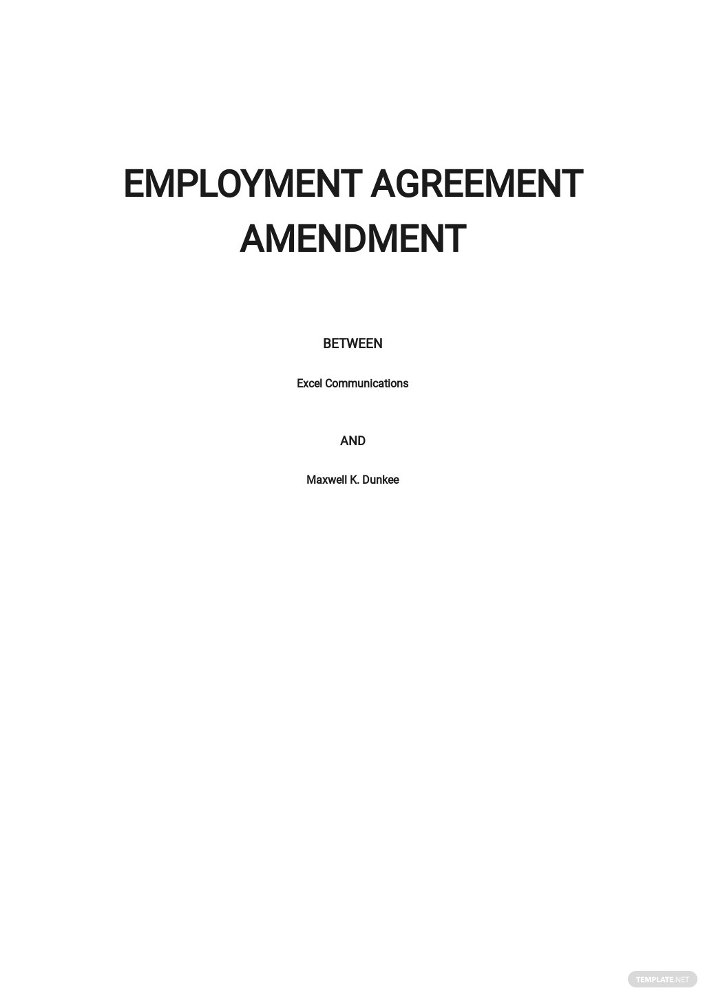 Employment Agreement Amendment Template.jpe