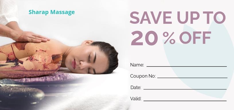 Free Massage Gift Voucher Template