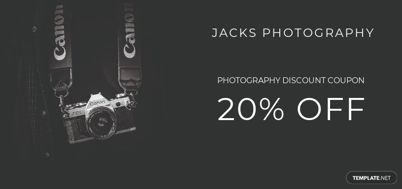 Photography Gift Voucher Template