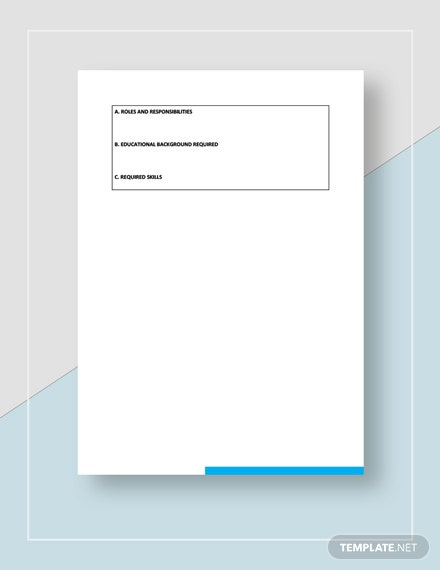Job Description Form Template