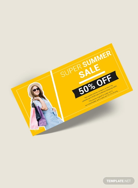 Free Shopping Gift Voucher Template