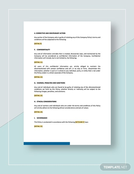 Company Policy Download