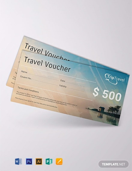 Free Travel Gift Voucher Template Download 515 Vouchers In Psd