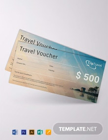 Free Travel Gift Voucher Template