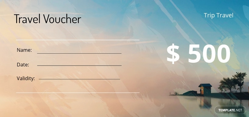 Participation in Travel Vouchers printable customizable complete set