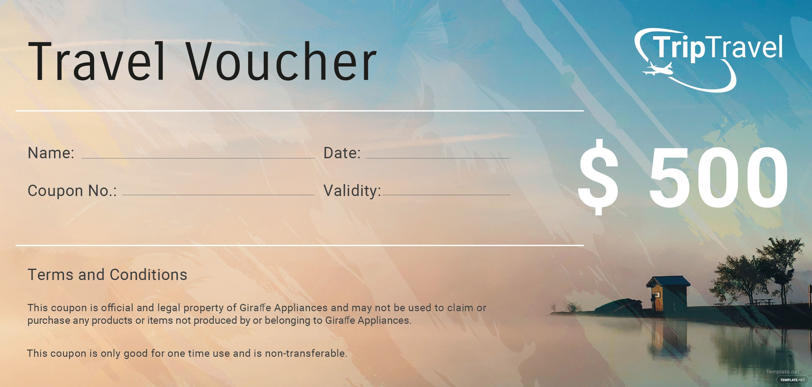 free travel gift voucher template in adobe photo ilrator
