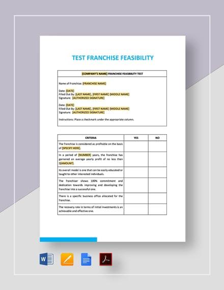 Test Franchise Feasibility