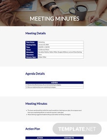 Minutes of Meeting Master Template