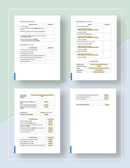 Telemarketing Report Template