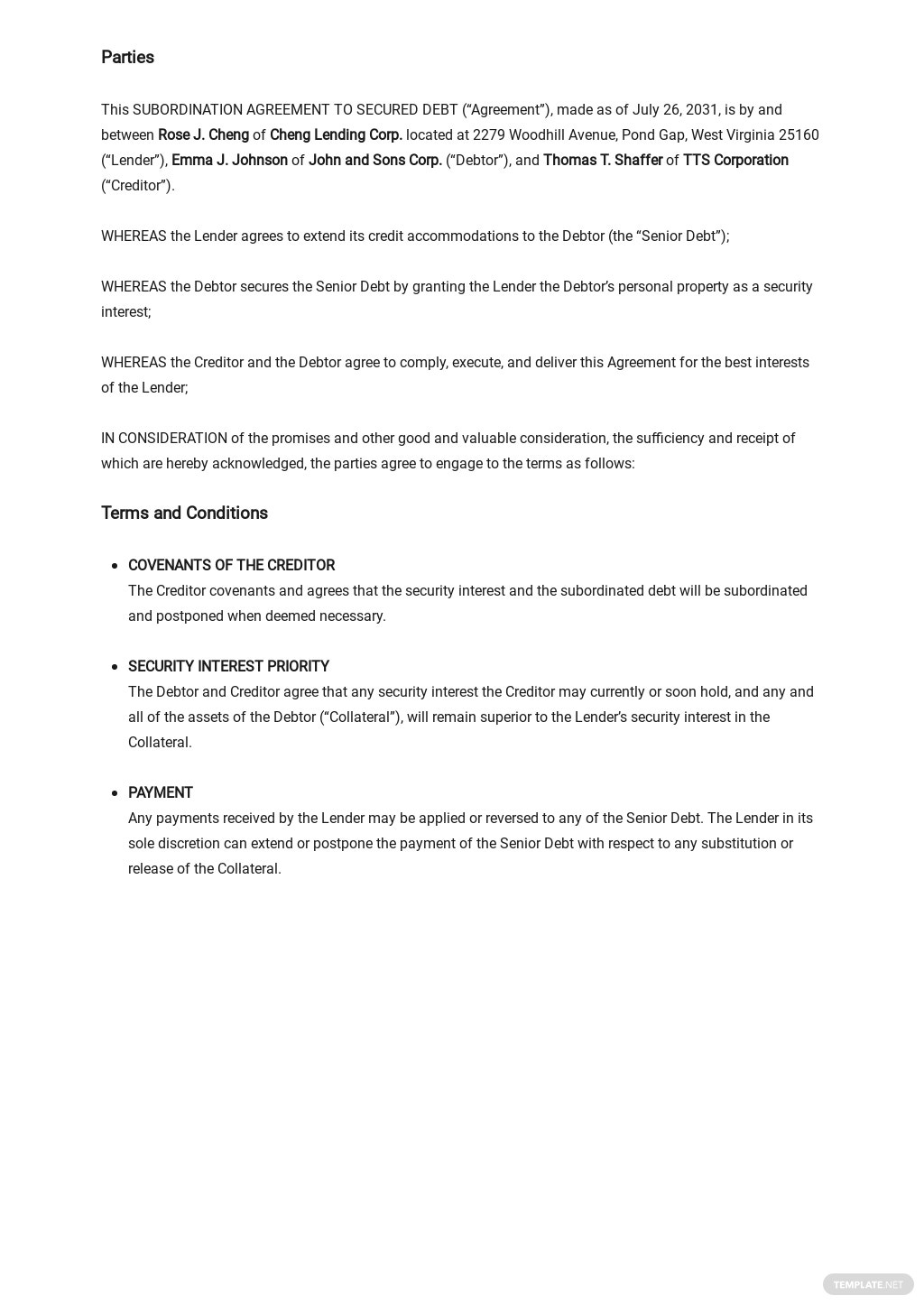 Subordination Agreement to Secured Debt Template 1.jpe