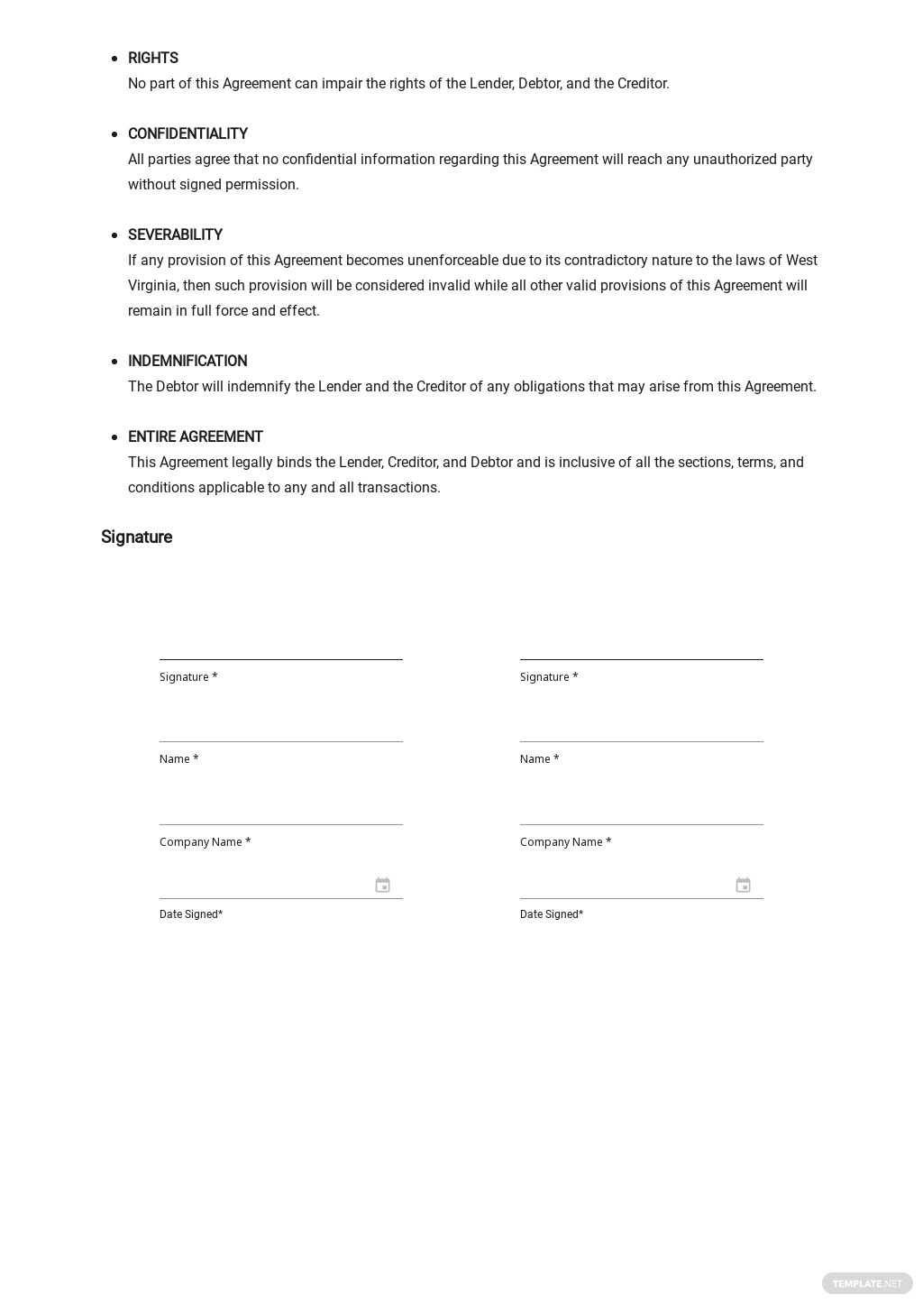 Subordination Agreement to Secured Debt Template 2.jpe