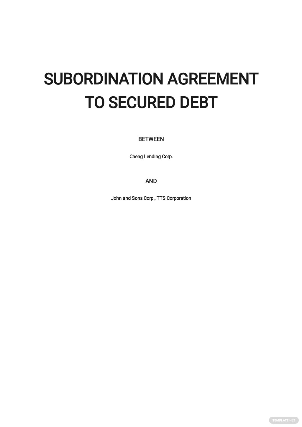 Subordination Agreement to Secured Debt Template.jpe