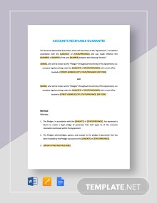 Accounts Receivable Guarantee Template