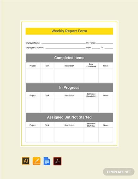 Free Weekly Report Template