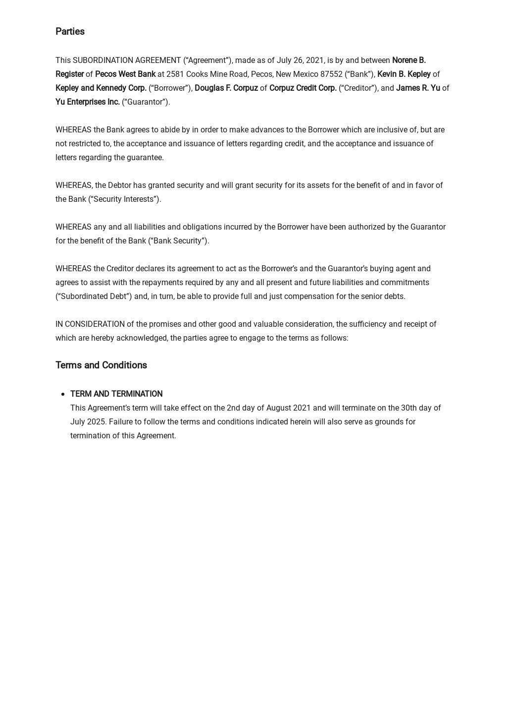 Subordination Agreement Long Form Template 1.jpe