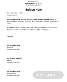 Balloon Note Template
