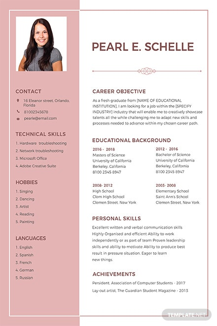 free senior executive resume template in adobe photoshop