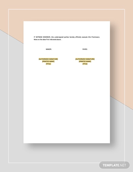 Promissory Note With Acceleration Clause Download
