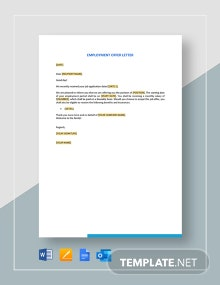 Employment Offer Letter Template