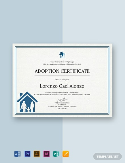 free adoption certificate template 440x570 1