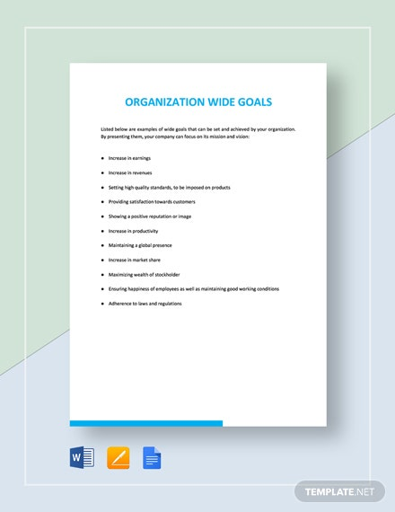 Organization Wide Goals Template
