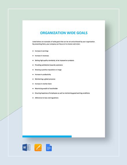 Organization Wide Goals Template