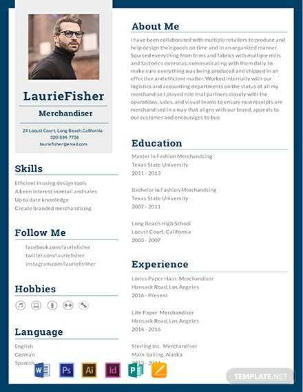 Garment Merchandiser Resume Template
