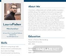 Free Garment Merchandiser Resume Template