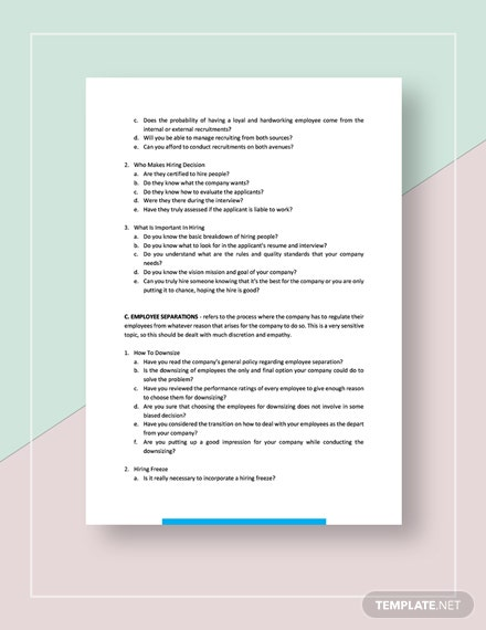 Possible Human Resource Management Strategies  Download