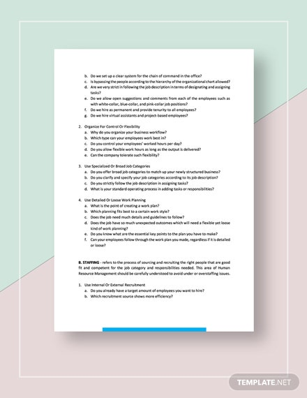 Possible Human Resource Management Strategies Template