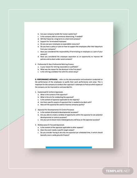 Sample Possible Human Resource Management Strategies