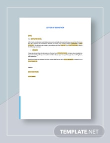 Letter of Demotion Template