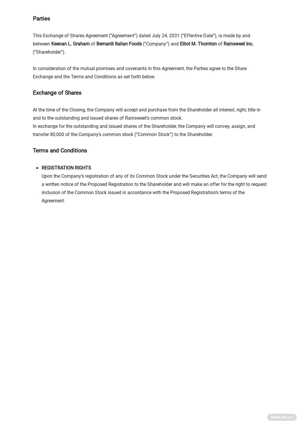 Exchange of Shares Agreement Template 1.jpe