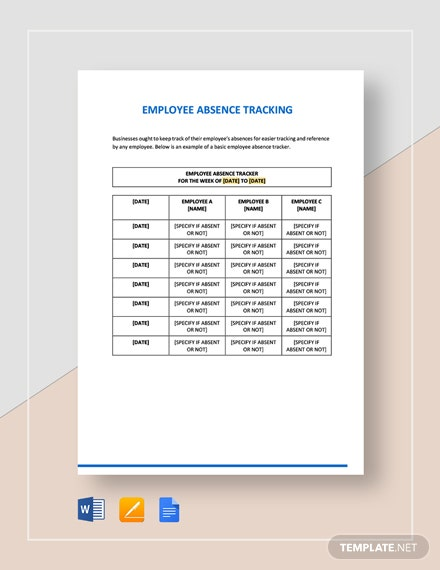 Employee Absence Tracking Template