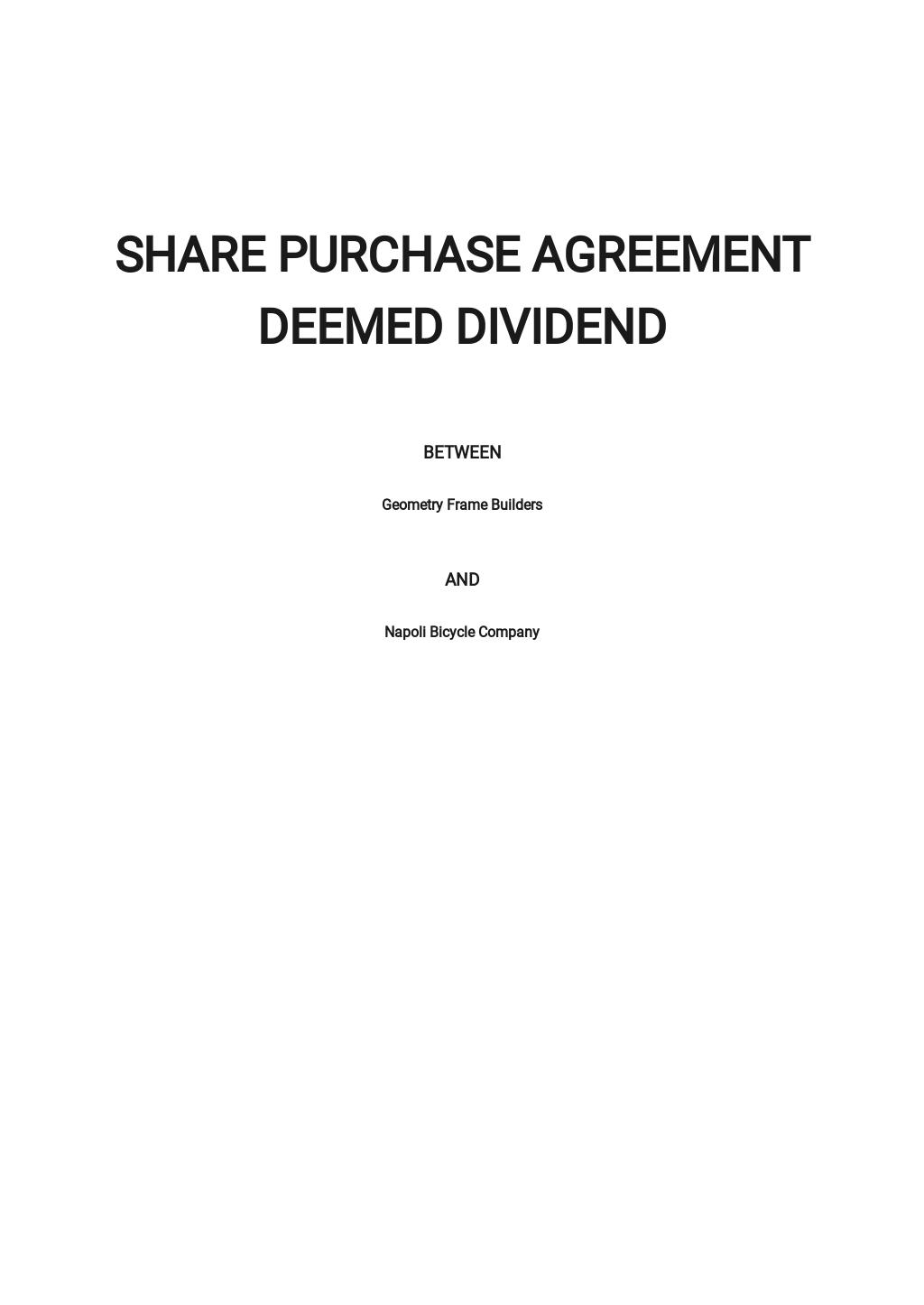 Share Purchase Agreement Deemed Dividend Template.jpe