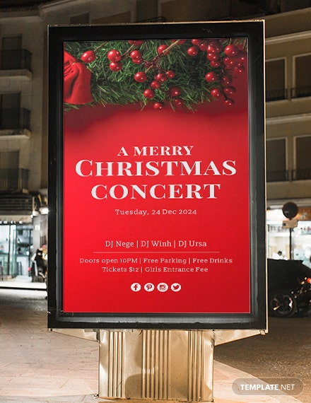 Free Christmas Digital Signage Template
