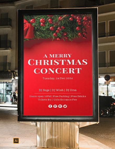 Free Christmas Digital Signage Template