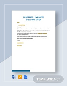 Christmas Employee Discount Offer Template