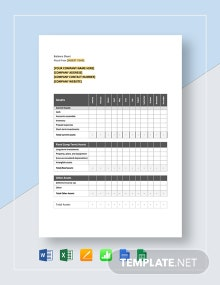 Monthly Balance Sheet Template